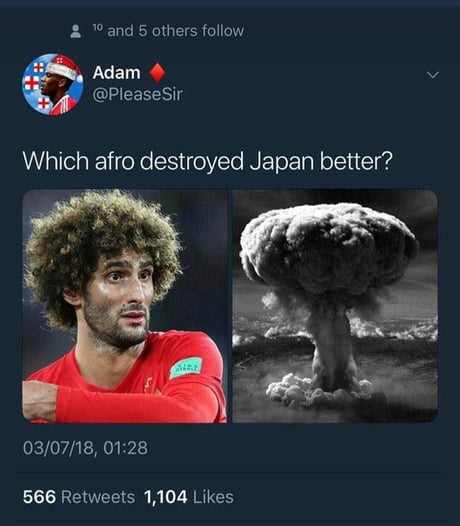 Which afro destroyed Japan better